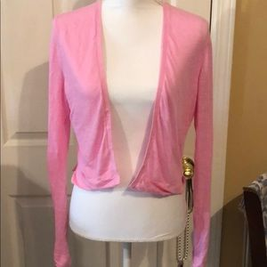 Ann Taylor pink shrug sweater